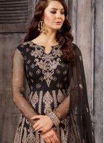 Wonderful Black Floor Length Anarklai Suit