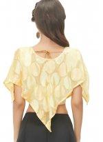 Lovable Gold Color Designer Blouse