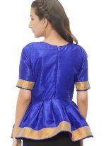 Adorable Royal Blue Color Designer Blouse