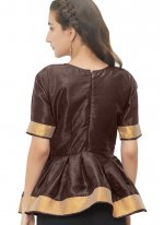 Pleasing Brown Color Readymade Blouse