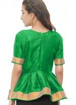 Delightful Green Color Designer Blouse