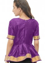 Fetching Purple Color Blouse With Lace Work