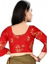 Fascinating Designer Blouse With Embroidery Work