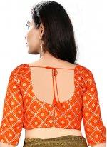Engaging Orange Color Designer Blouse