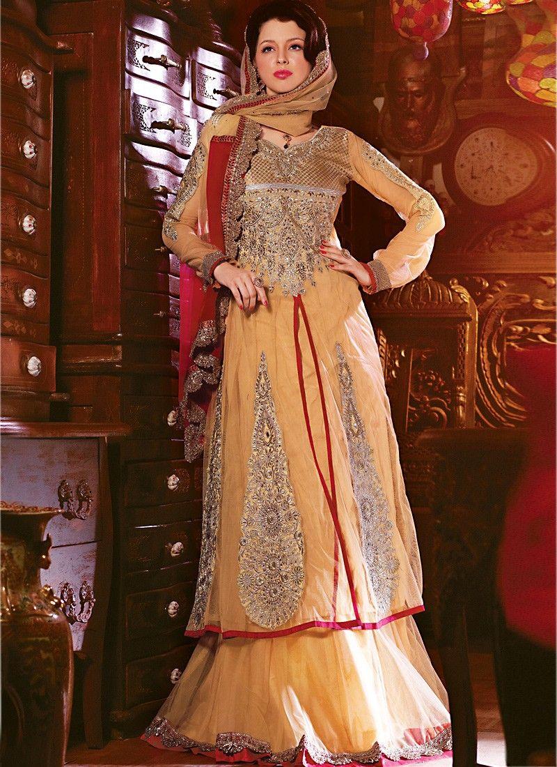 Bige Brown Designer Lehenga Choli