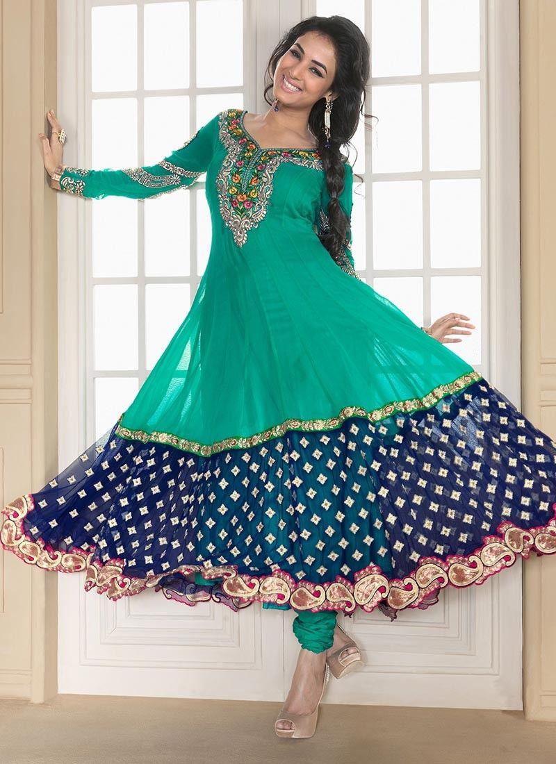 Can Blue & Nvy Blue Salwar Kameez