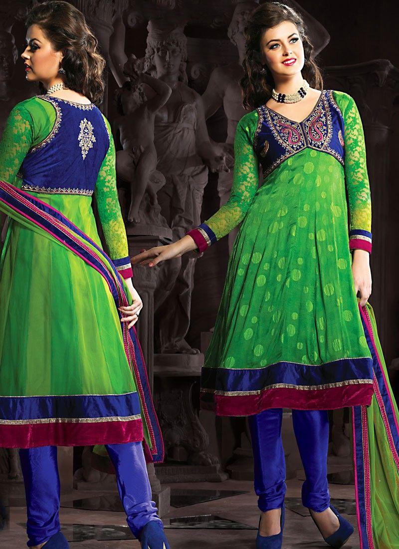 Emerald Green Anarkali