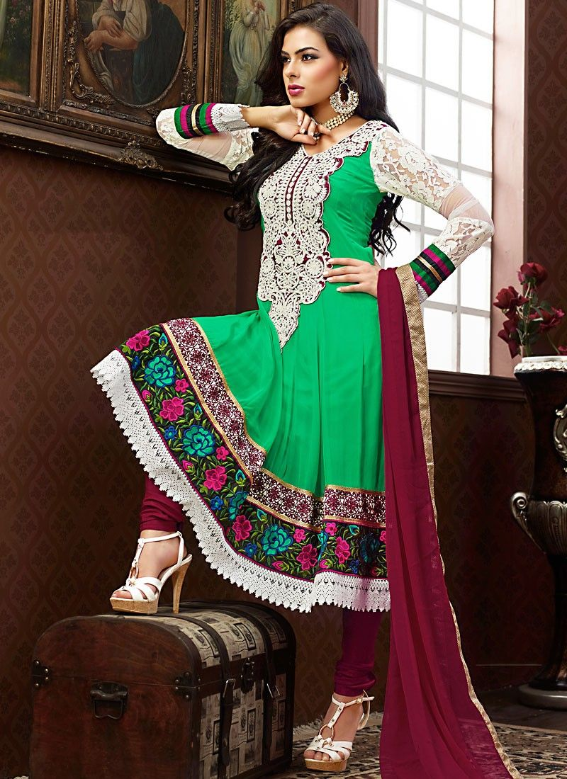 Emerald Green Anarkali Suit