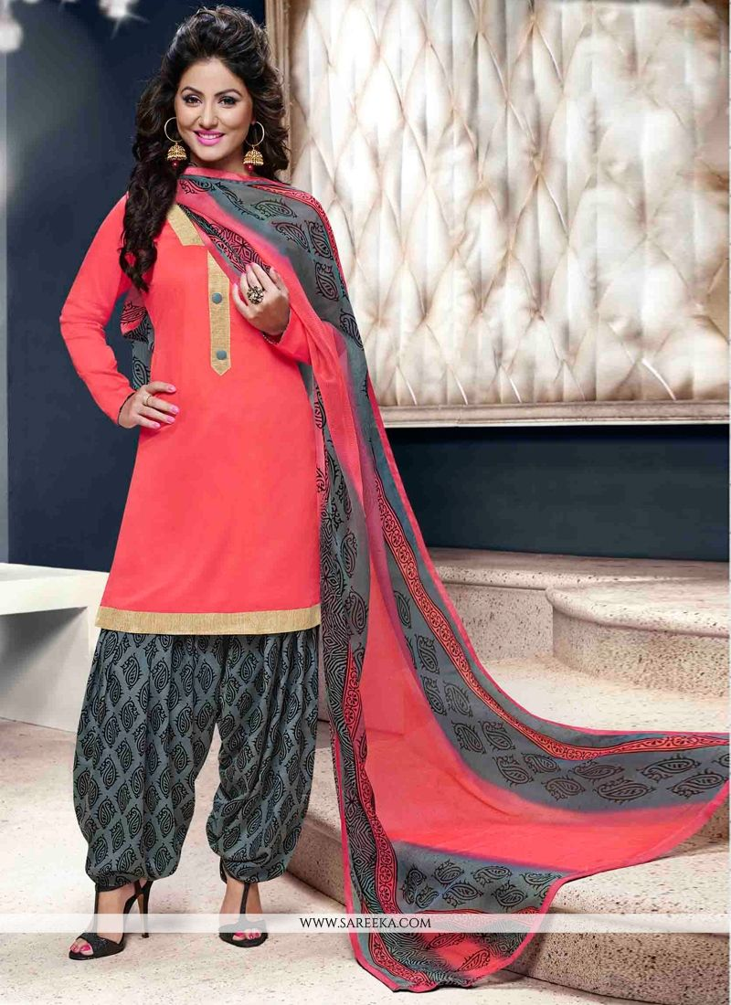Red Designer Patila Salwar Suit