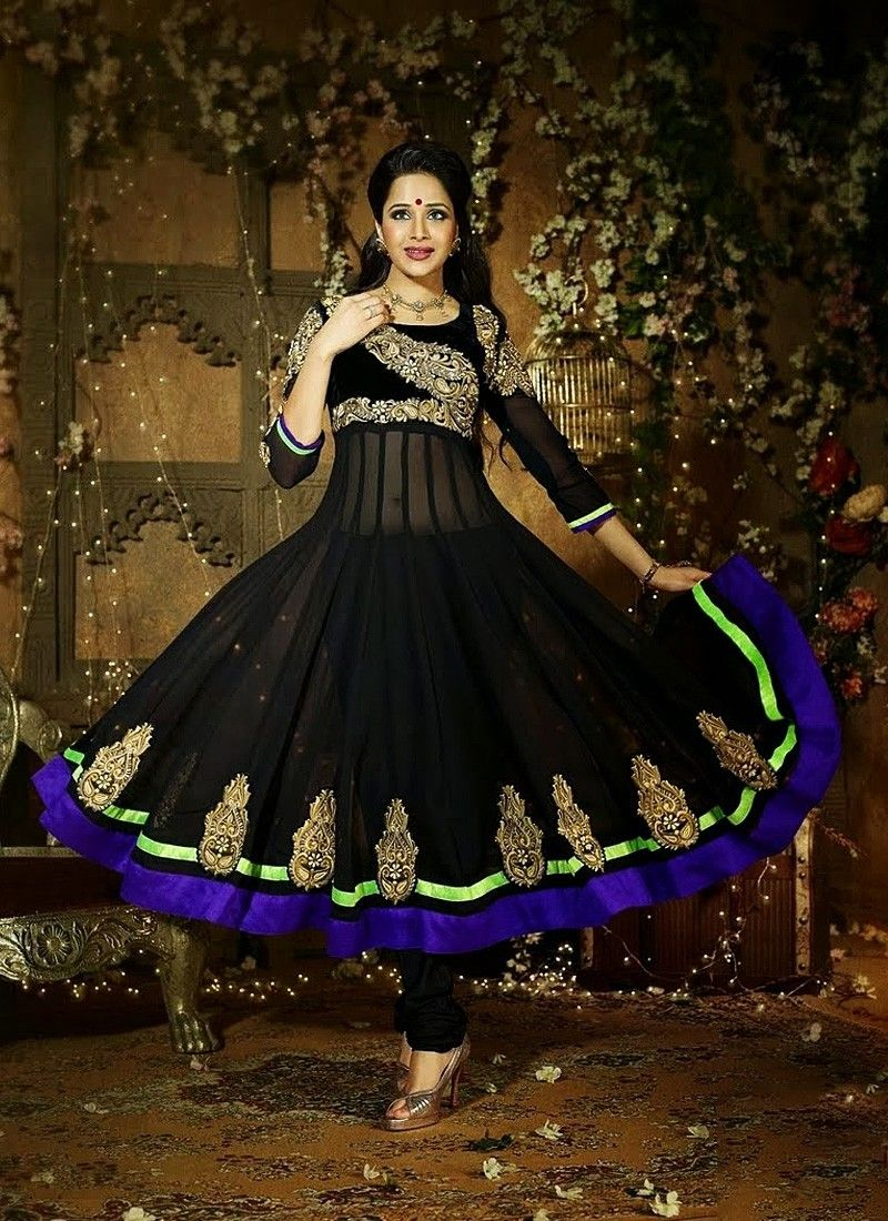 Black Net Anarkali Suit