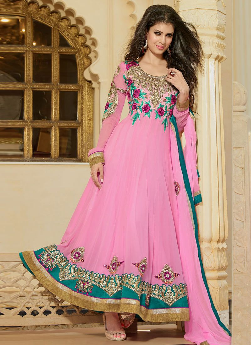 efeb2b042d Pink Ankle Length Anarkali Suit -