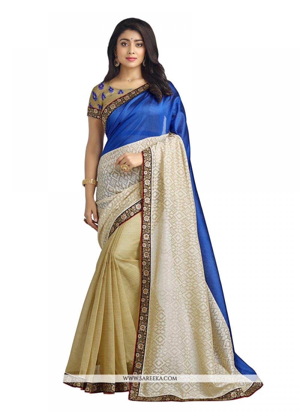 Embroidered Work Banarasi Silk Designer Saree
