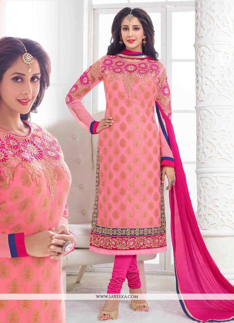 Pink Churidar Designer Suit