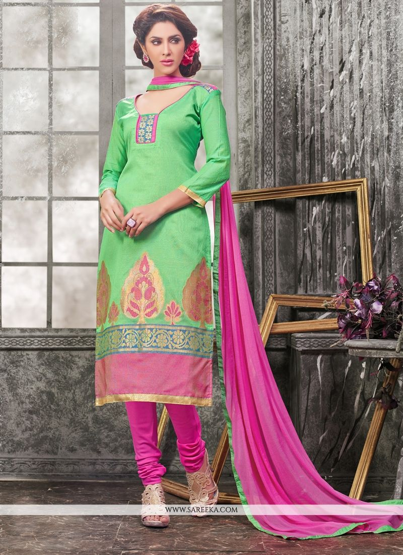 Lace Work Churidar Designer Suit