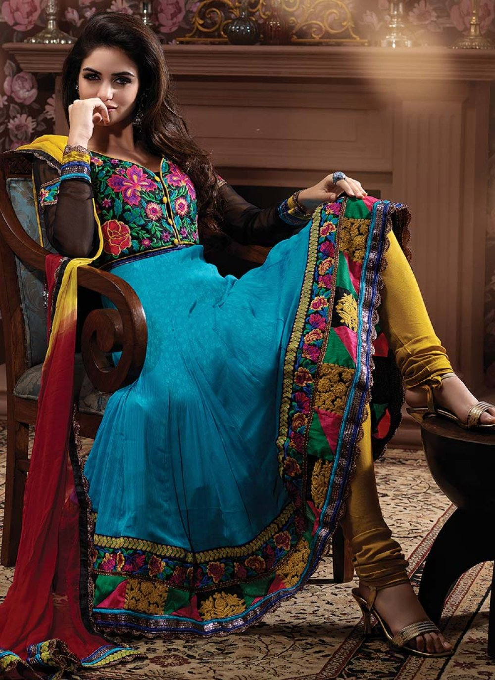 Resham Enhanced Anarkali Suit
