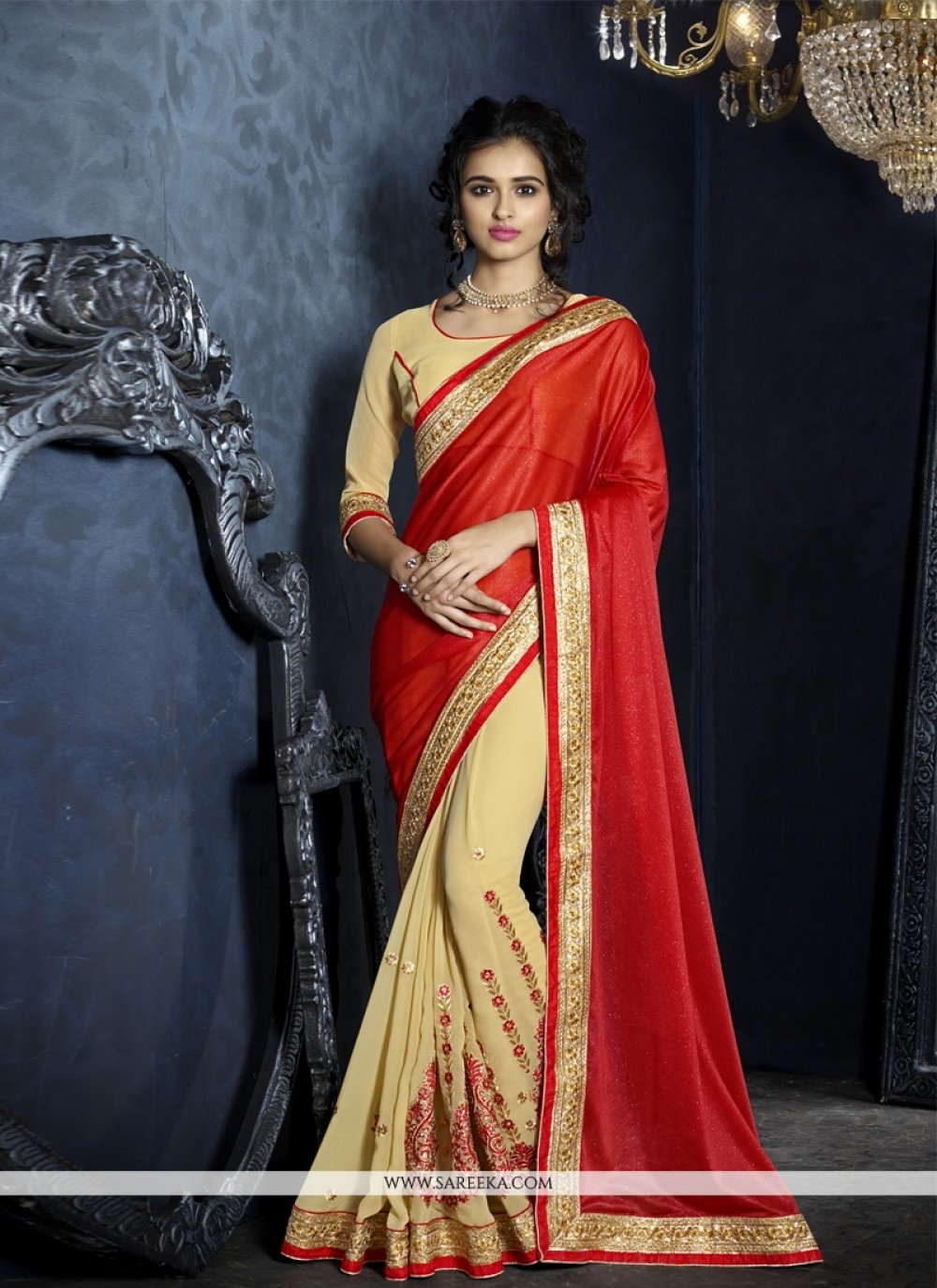 Zari Work Designer Saree