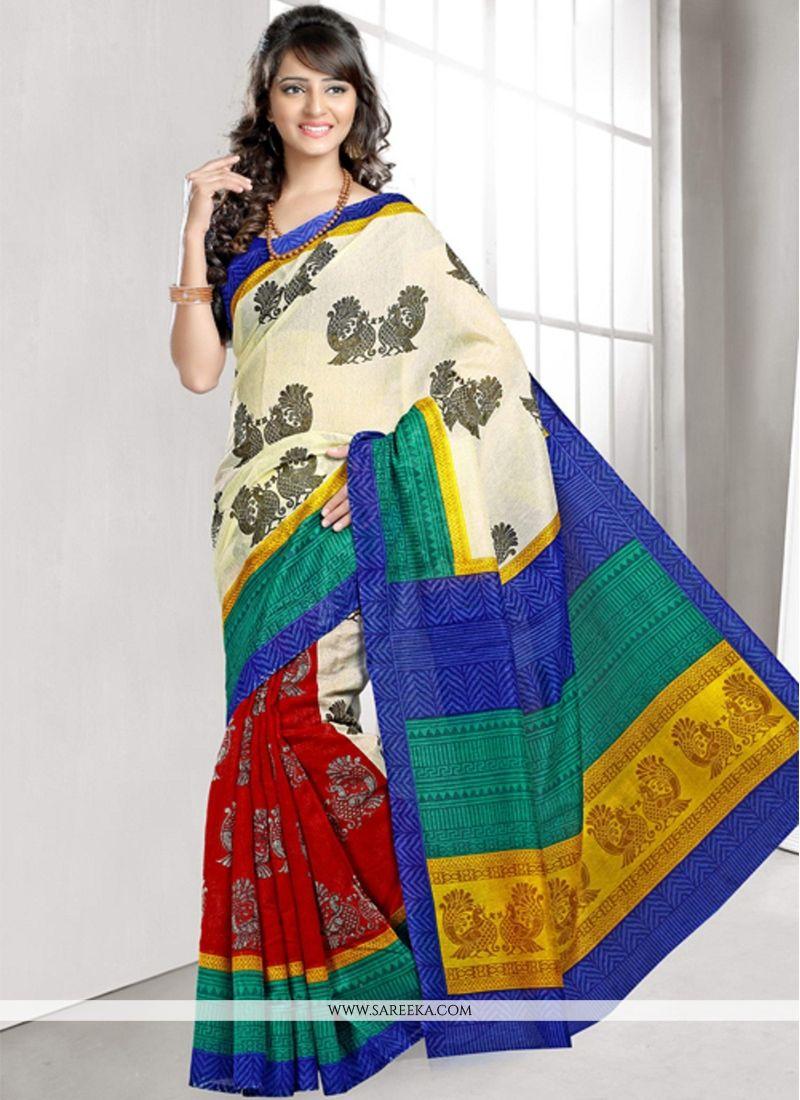 Lace Work Bhagalpuri Silk Casual Saree