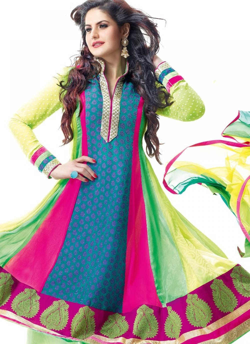 Multicolored Chiffon Salwar Kameez