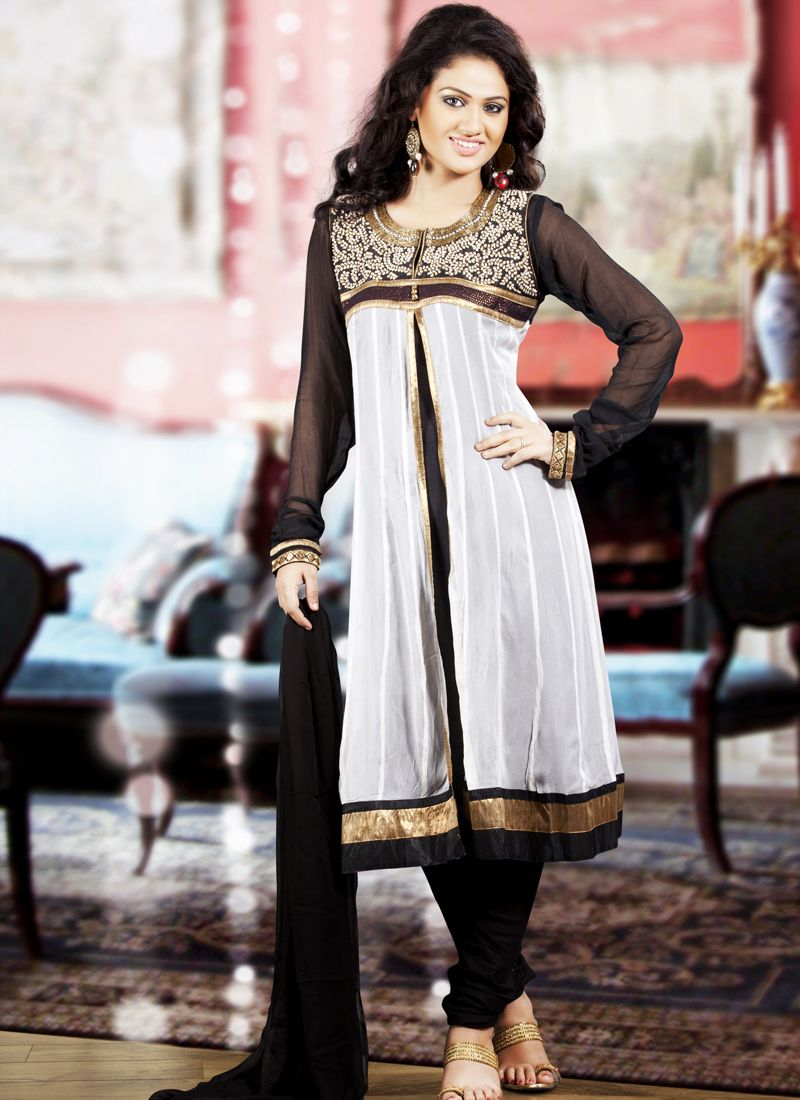 Black & White Salwar Kameez