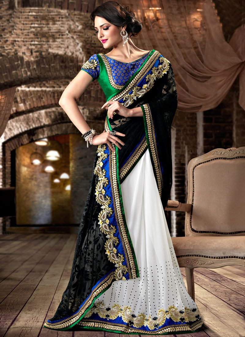 Brasso Jacquard Half and Half Saree