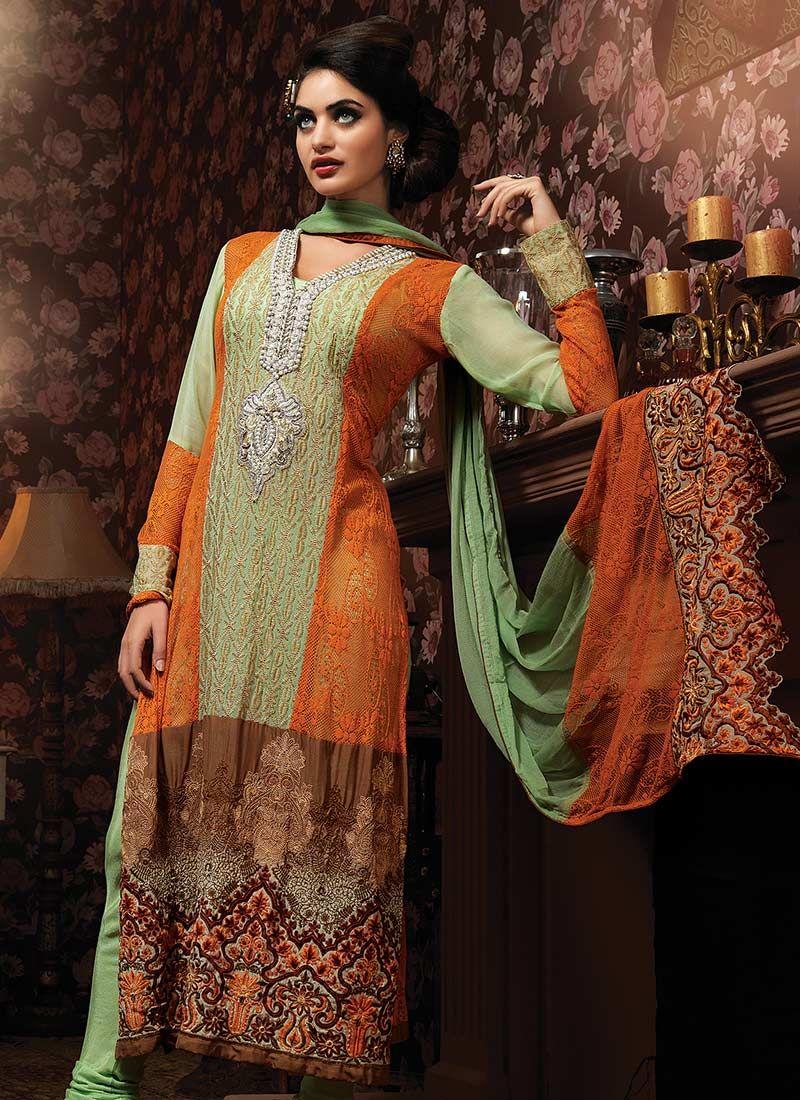 Multicolored Pakistani Suit