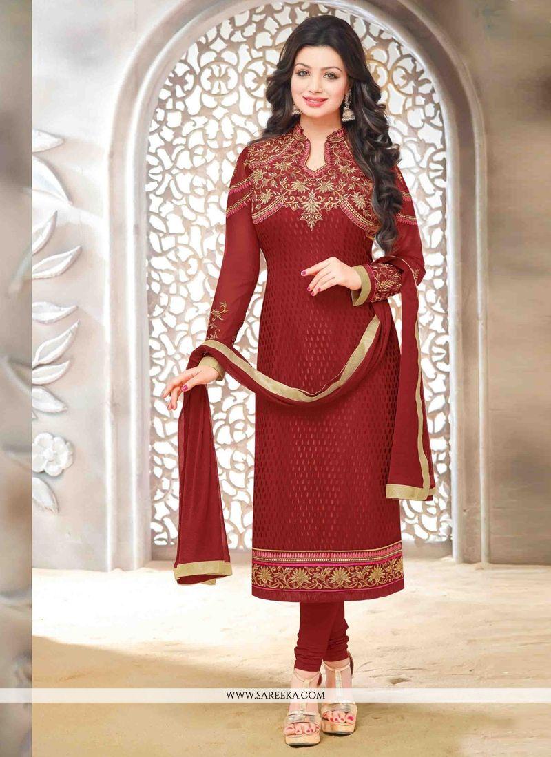 Ayesha Takia Lace Work Brasso Designer Straight Salwar Kameez