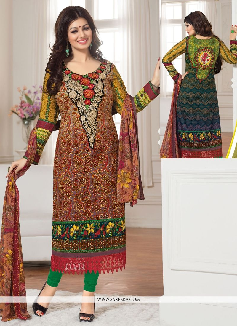 Ayesha Takia Multicolor Cotton Churidar Suit