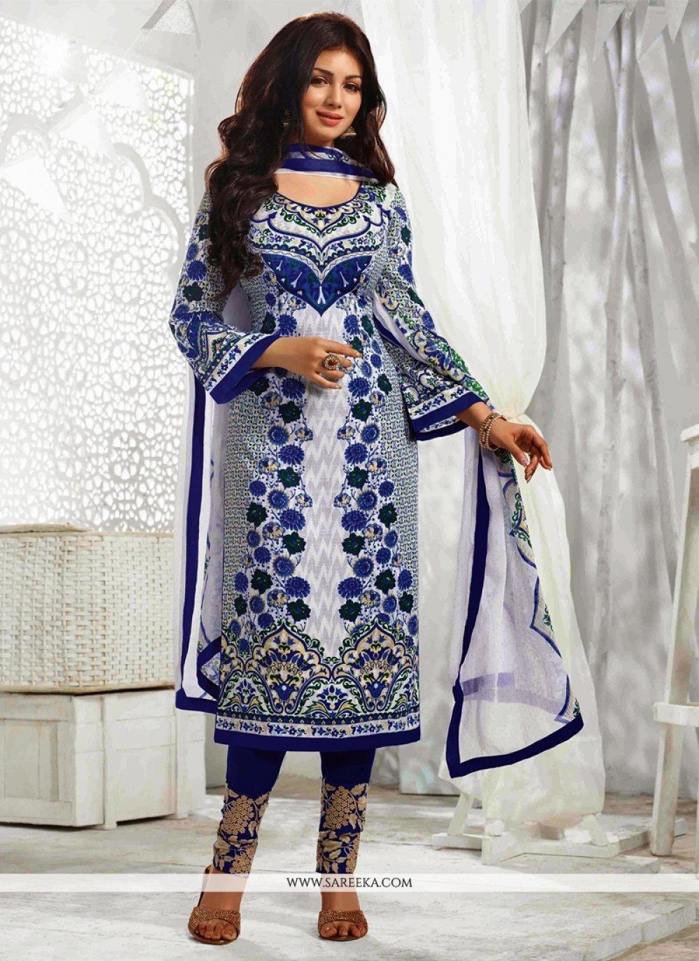 Ayesha Takia Off White Cotton Salwar Suit