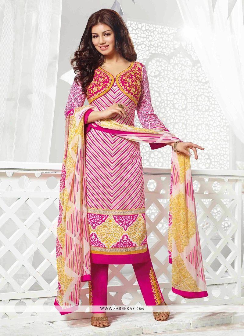 Ayesha Takia Pink Cotton Salwar Suit