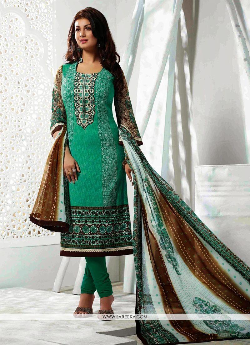 Ayesha Takia Sea Green Cotton Salwar Kameez