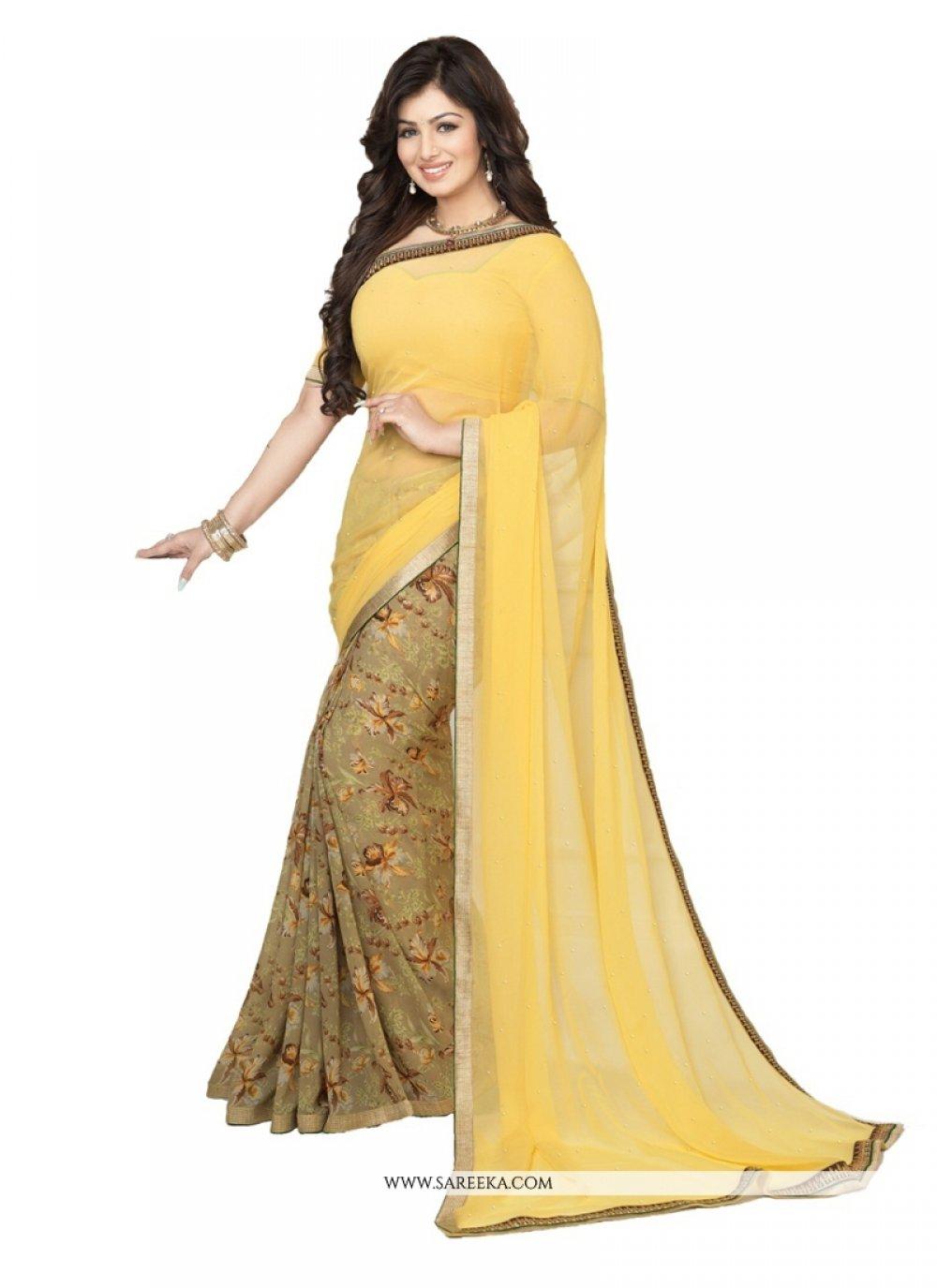 Ayesha Takia Yellow Casual Saree