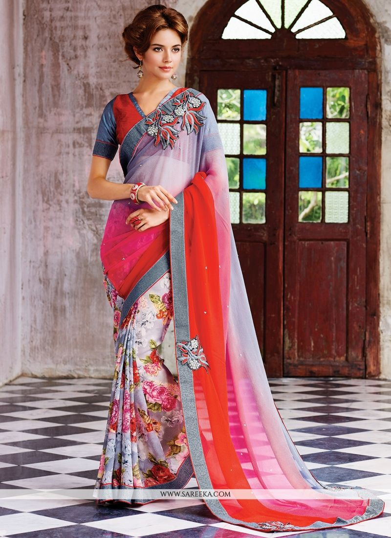 Georgette Designer Saree