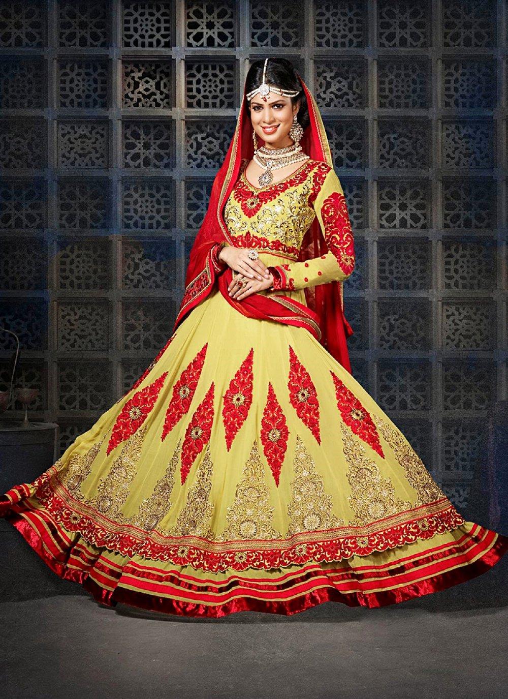 Gold Embroidery Work Velvet Anarkali Salwar Suit