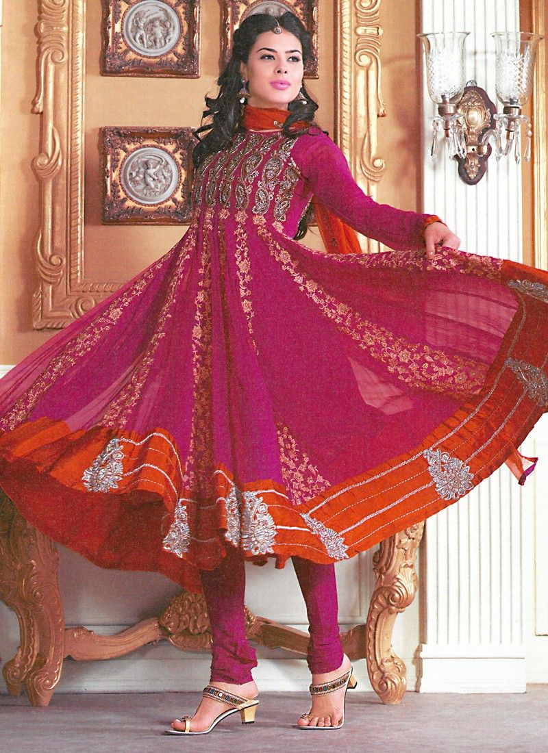 Beautiful Magenta Salwar Kameez