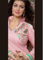 Embroidered Work Cotton   Designer Patiala Suit