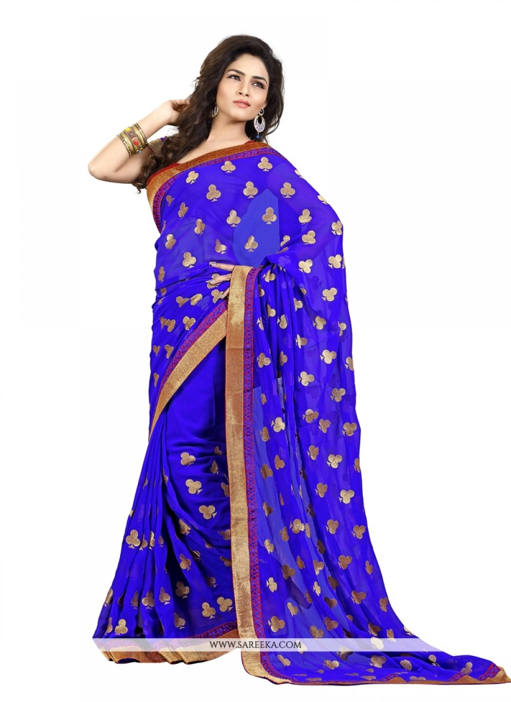 Beguiling Blue Casual Saree