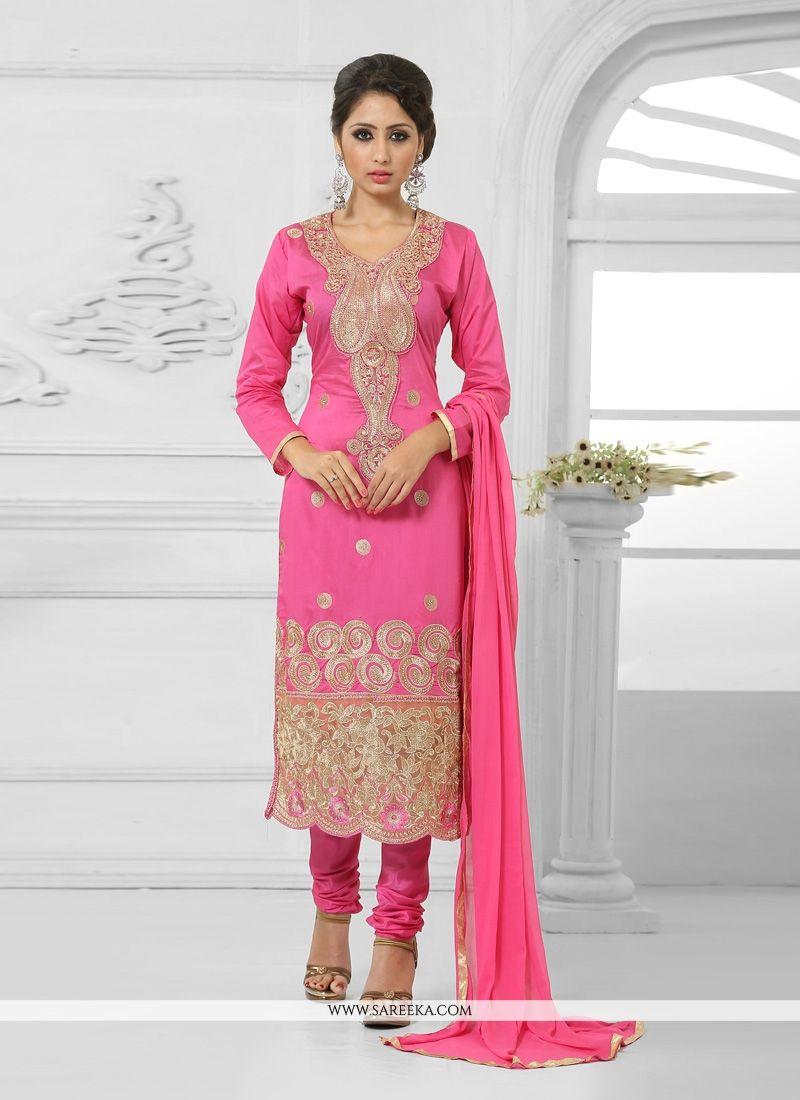 Beguiling Net Churidar Salwar Suit