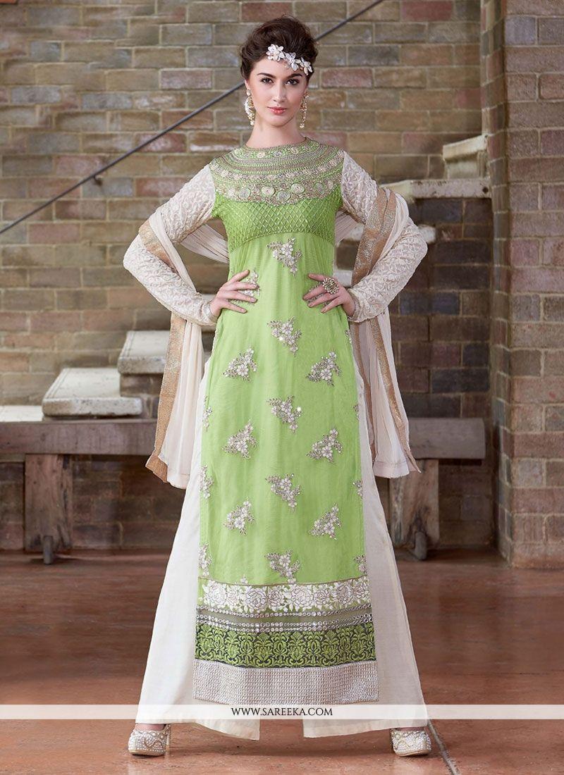 95a1205022 Bewildering Lace Work Georgette Designer Pakistani Salwar Suit -