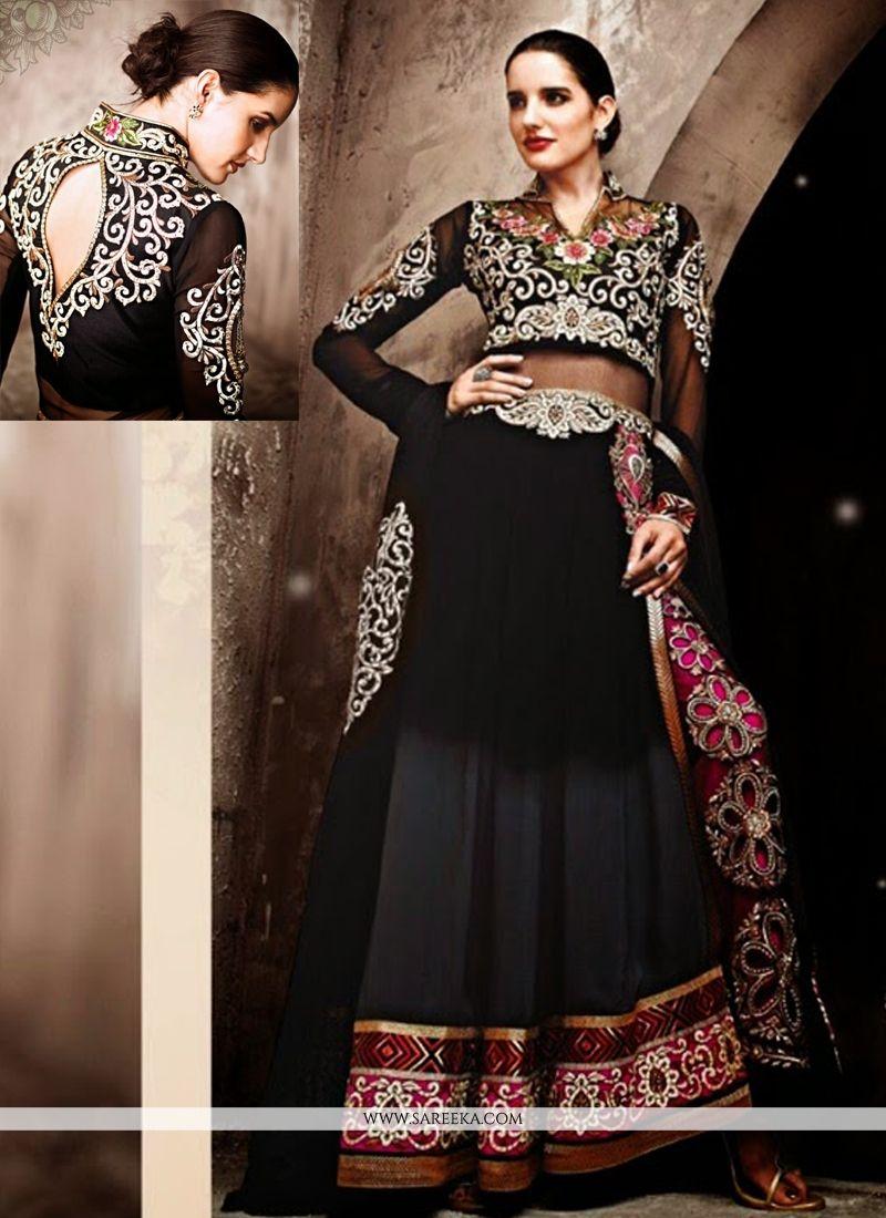 Black And Grey Shaded Pant Style Designer Lehenga Choli