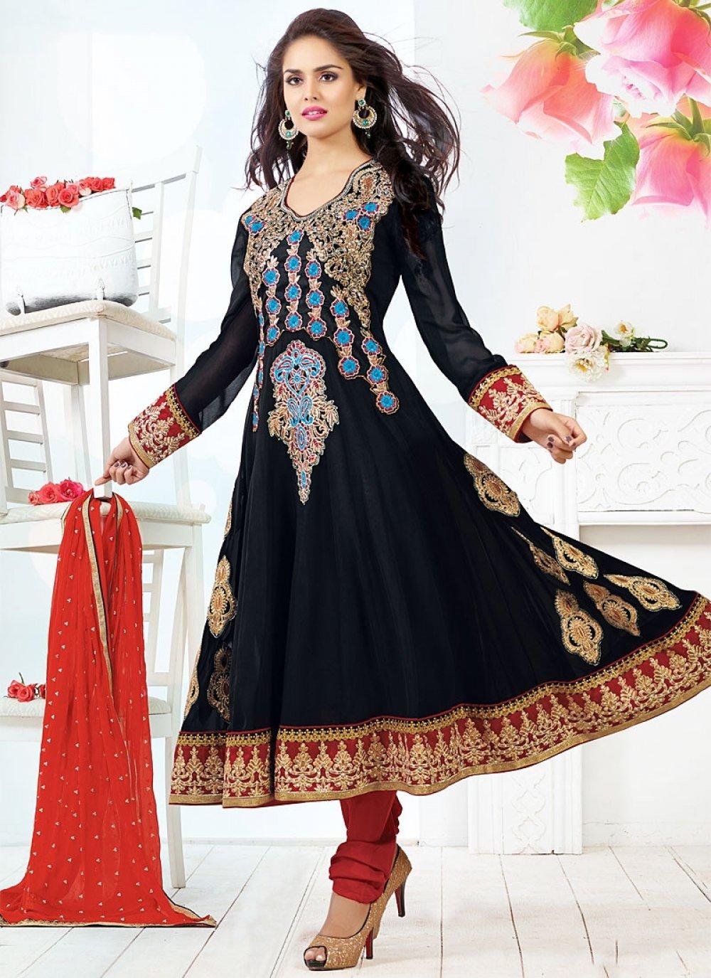 Black Embroidery Anarkali Salwar Suit