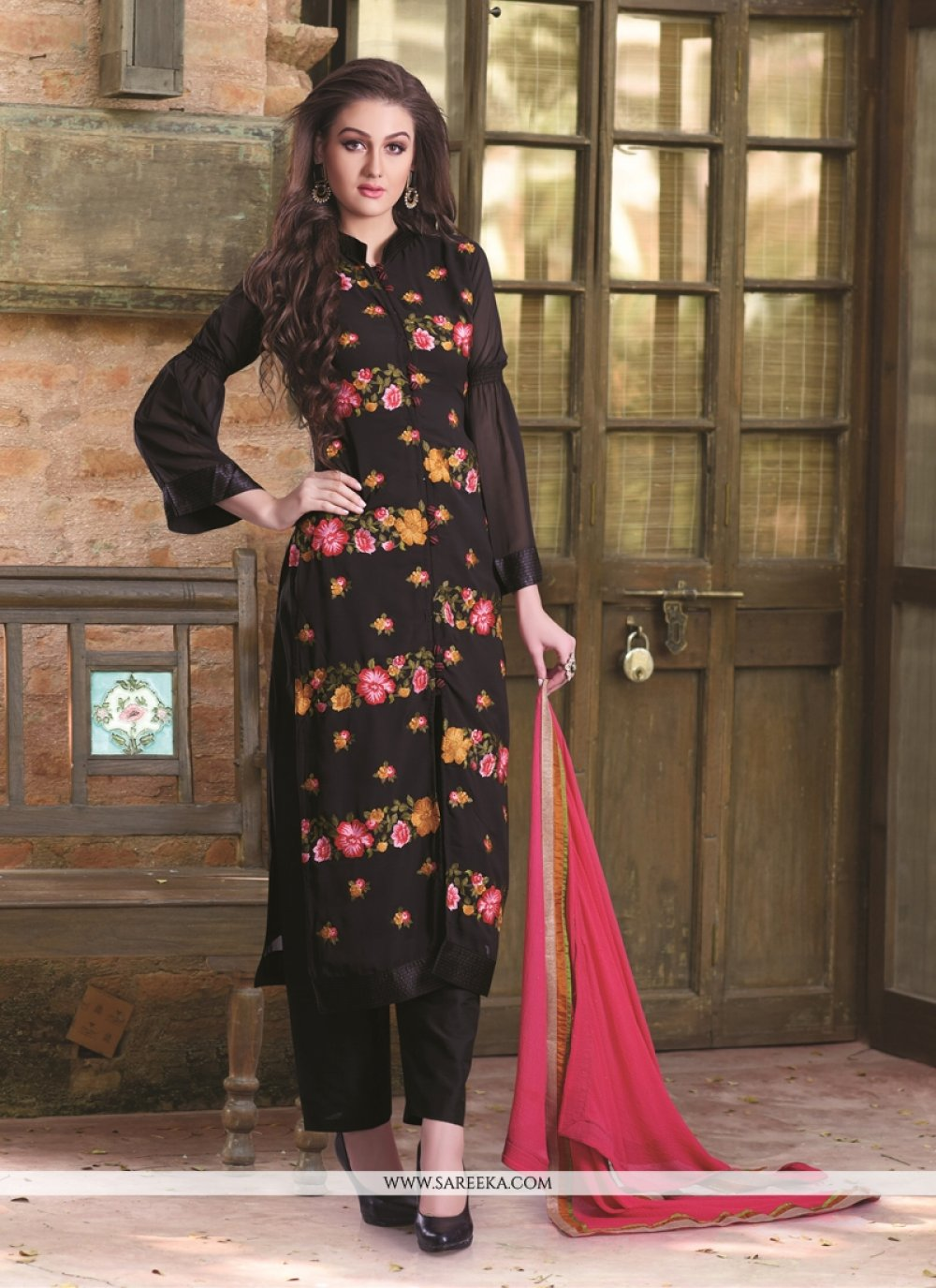 Georgette Black Designer Pakistani Suit