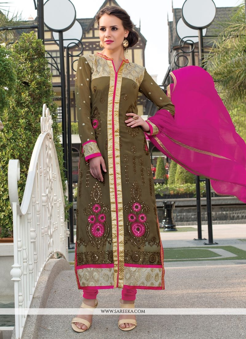 Georgette Churidar Salwar Suit