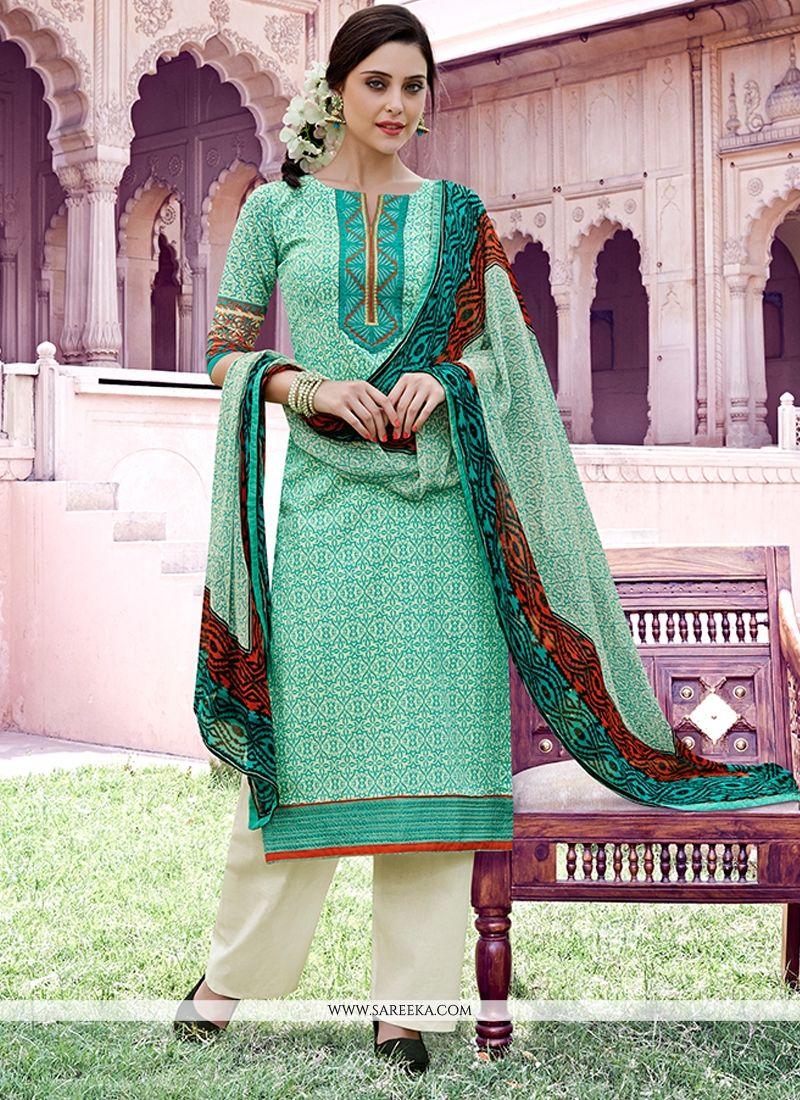 Print Work Cotton   Pakistani Suit