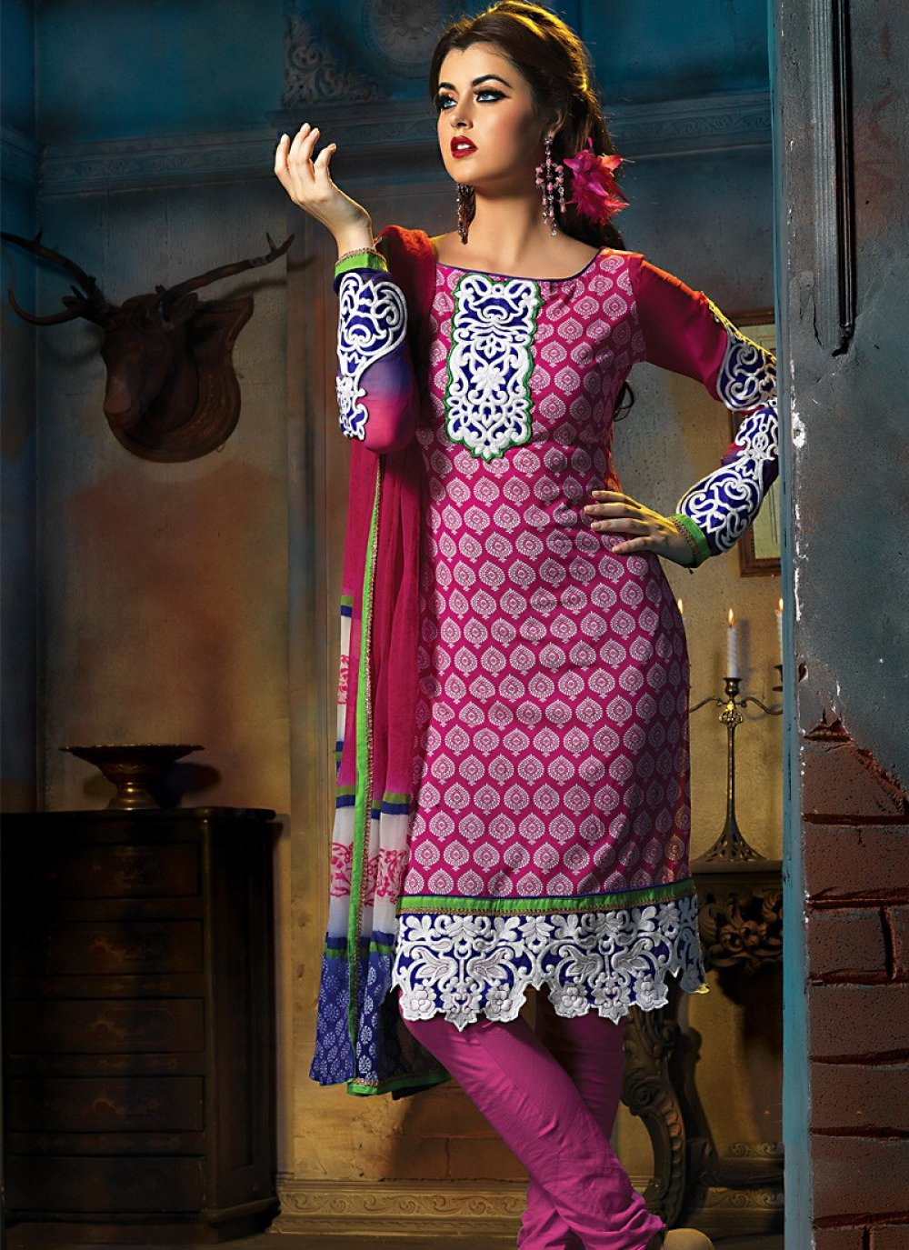 Deep Pink Salwar Kameez