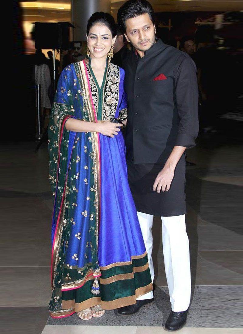 Dep Blue & Emerald Green Bollywood Salwar Kameez