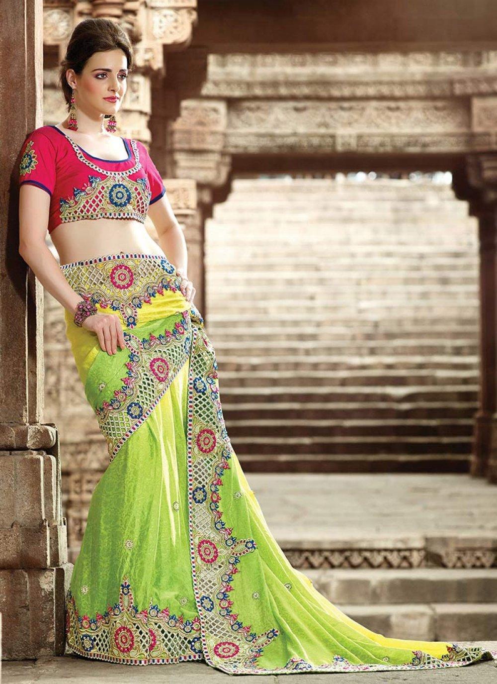 Green Art Silk Wedding Saree