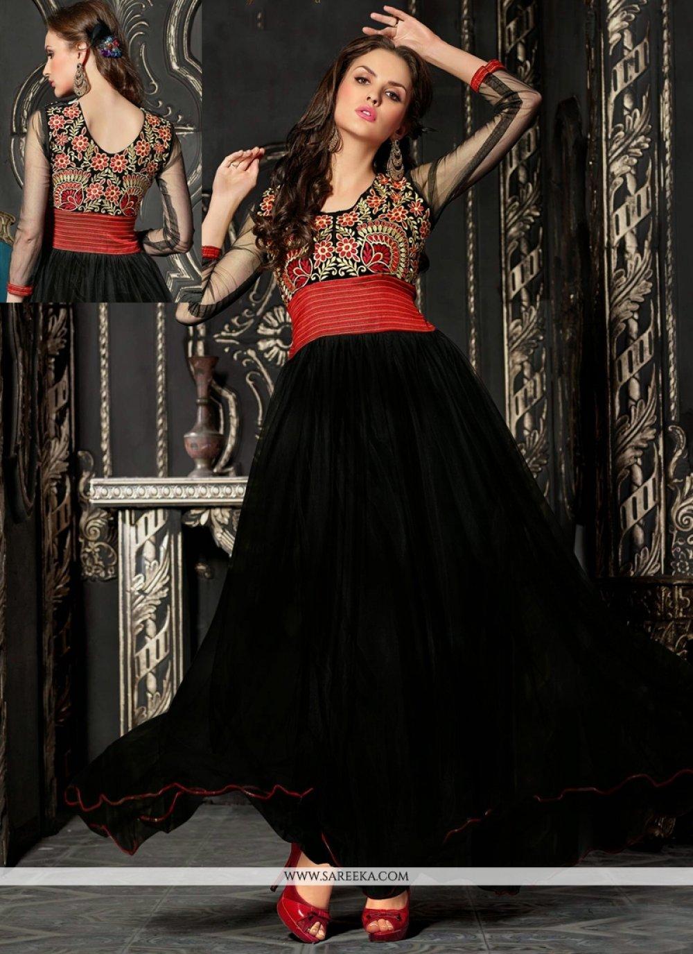 Black Net Anarkali Salwar Suit