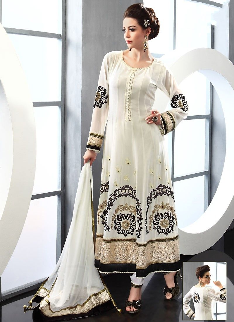 Cream Viscose Pakistani Suit