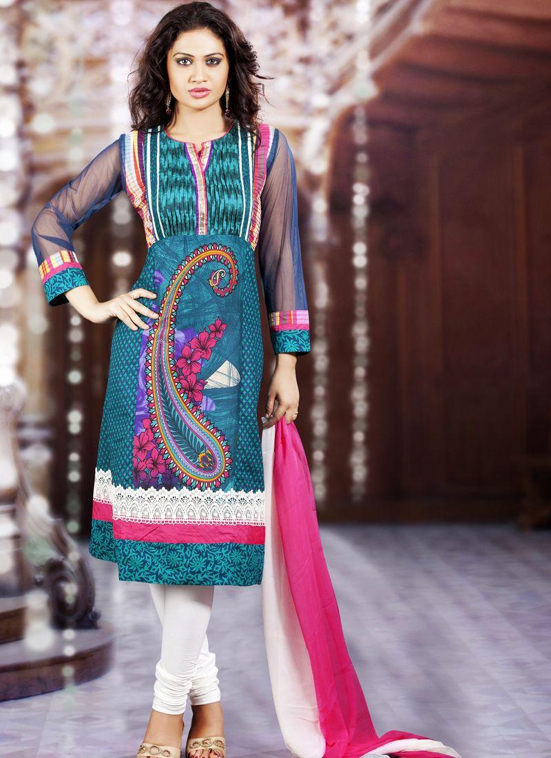 Tal Blue Salwar Kameez