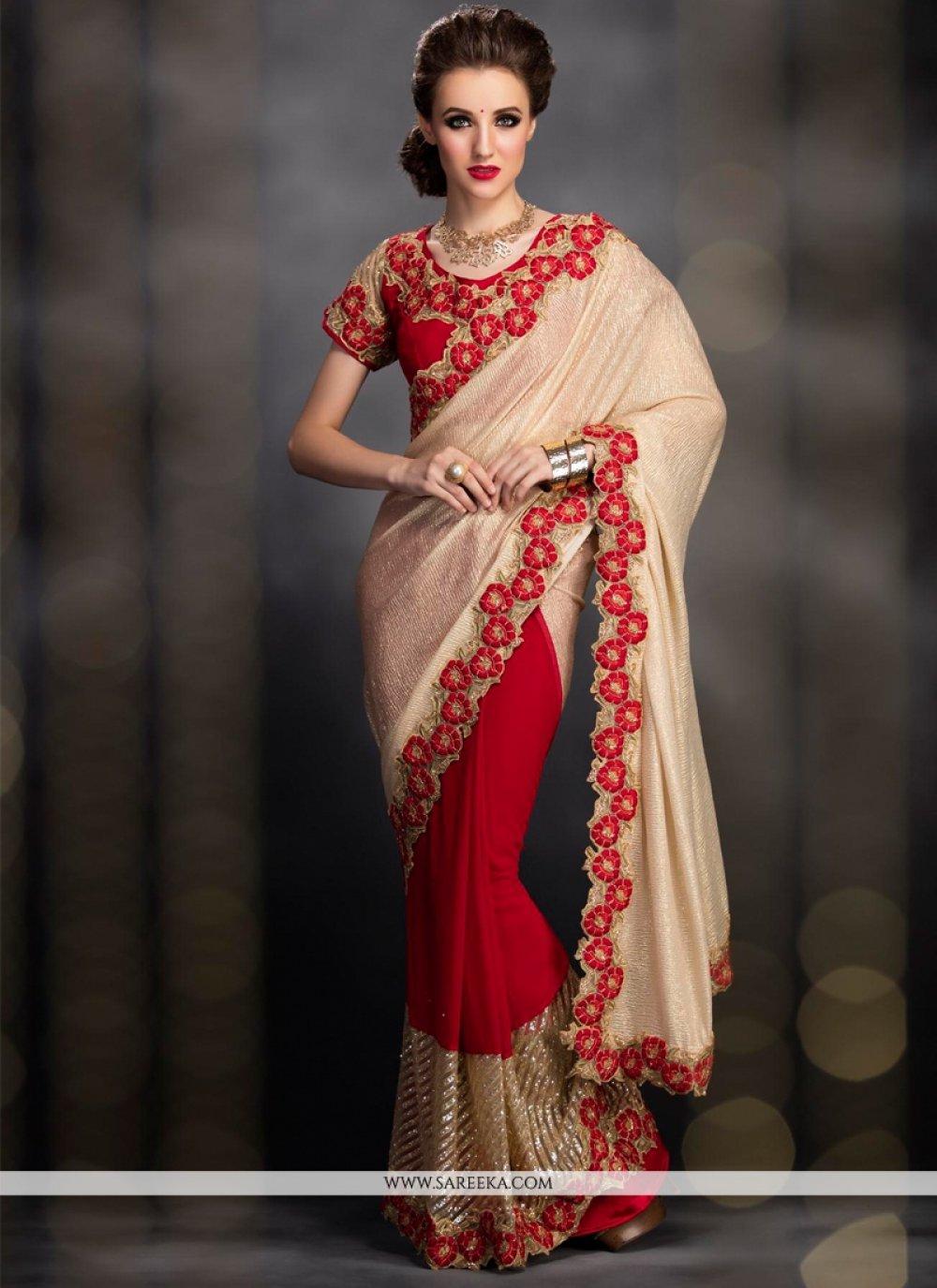 Georgette Designer Bridal Sarees